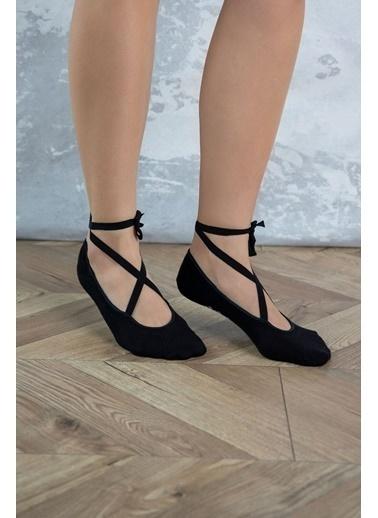 Katia & Bony Esnek Yoga Kadın Çorap - Siyah Siyah